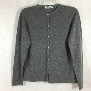 A bientot Cashmere Cardigan Sweater French Made M